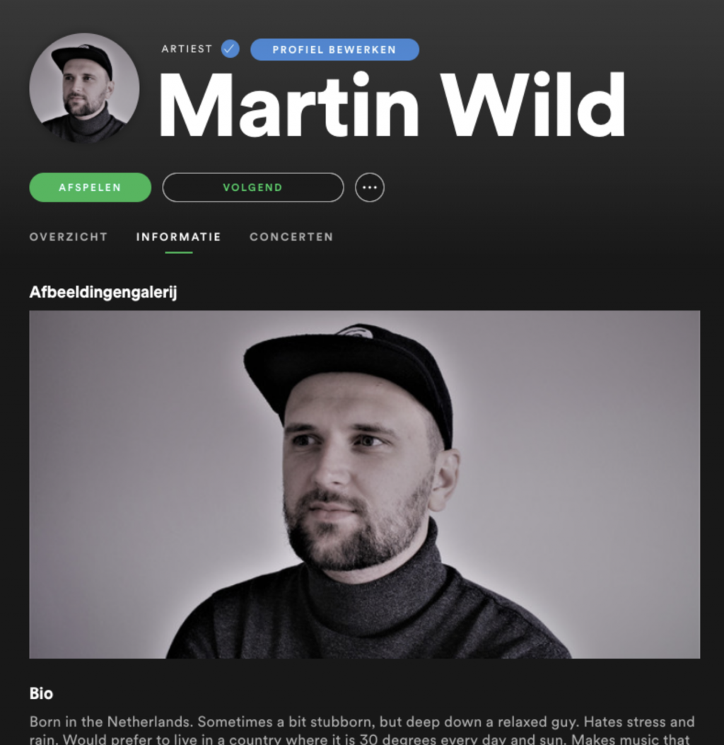 Spotify profile
